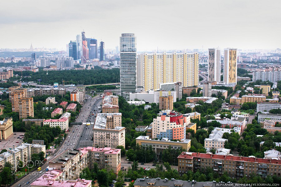 Photograph Moscow from height  by Alexander Remnev on 500px