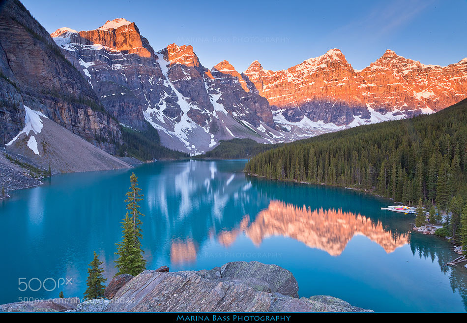 Photograph Sunrise over Moraine Lake by Marina Bass on 500px
