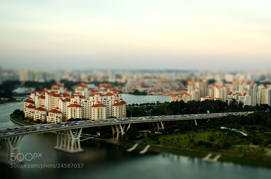 Photograph Singapore In Tilt-Shift Photography by Prakash Yalamarthi on 500px