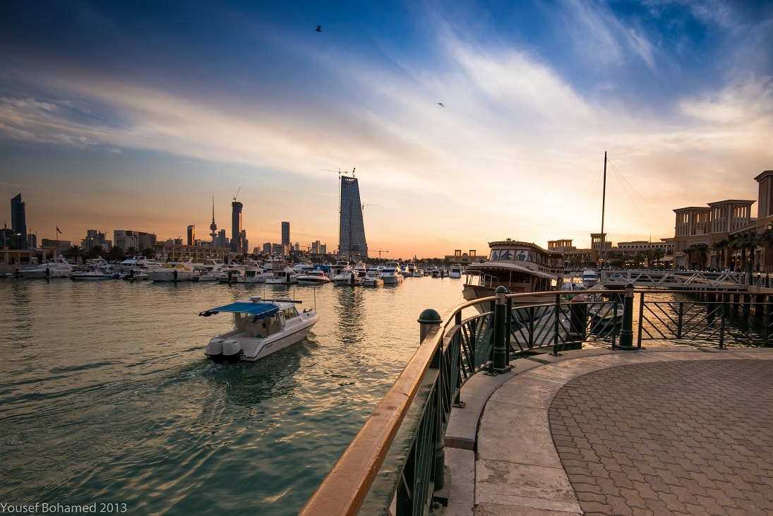Photograph Kuwait -  Sunset at Souq Sharq Marina by Yousef Bohamed on 500px