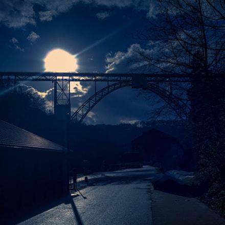 Blue Night at Bridge