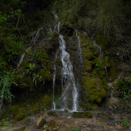 Waterfall deep in forest, Nikon COOLPIX S4400
