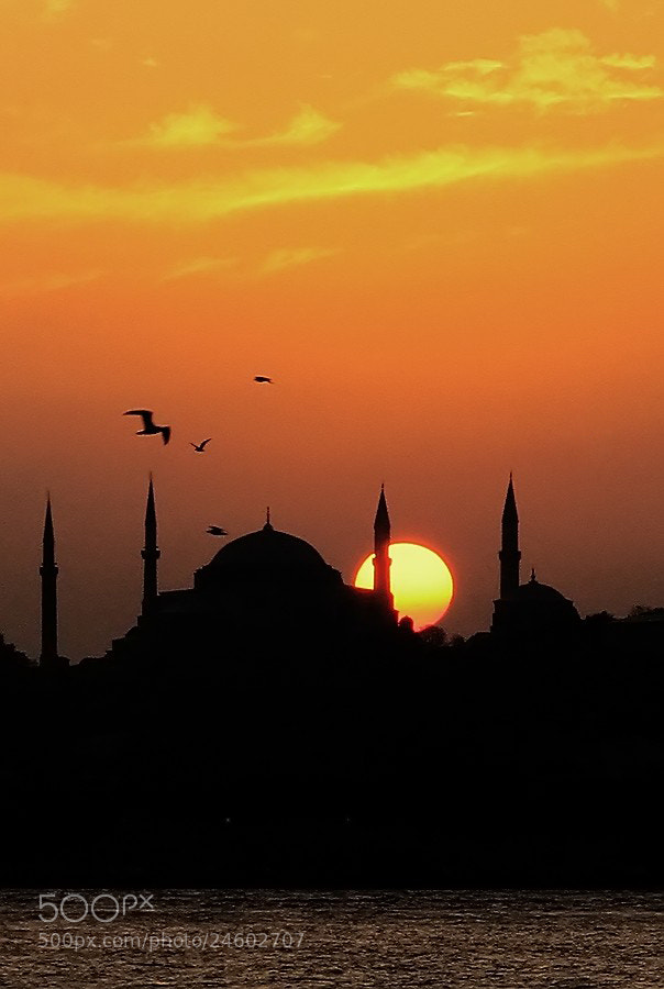 "Photograph ""sunset""(AYASOFYA CAMİİ) by e&e photography on 500px"