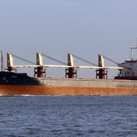 Bosphorus. Bulk carrier