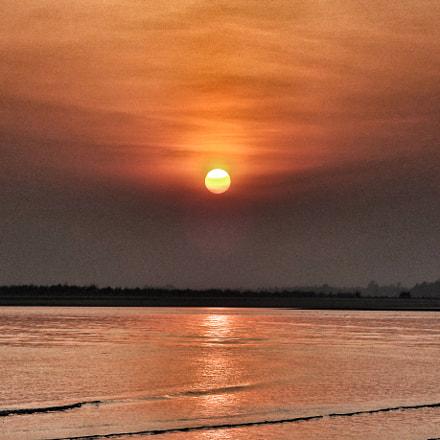 Golden sunset, Sony DSC-WX150