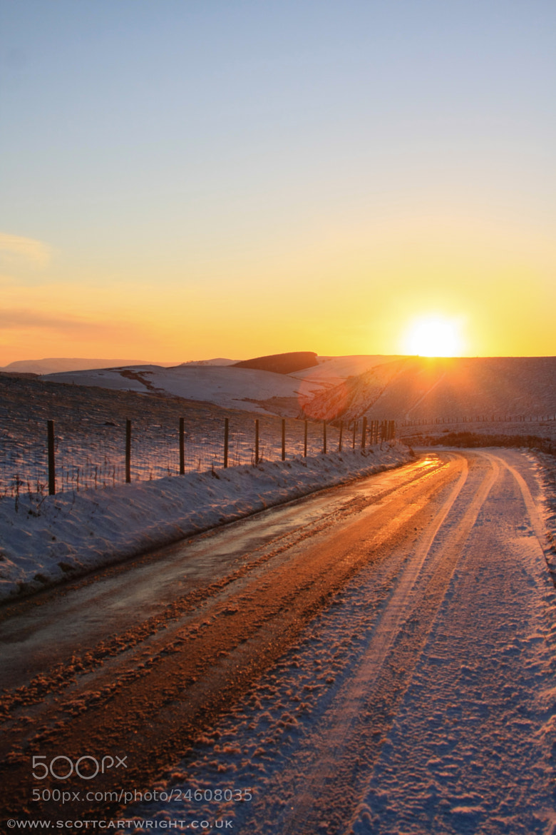 Photograph Snowy Sunset by Scott Cartwright on 500px