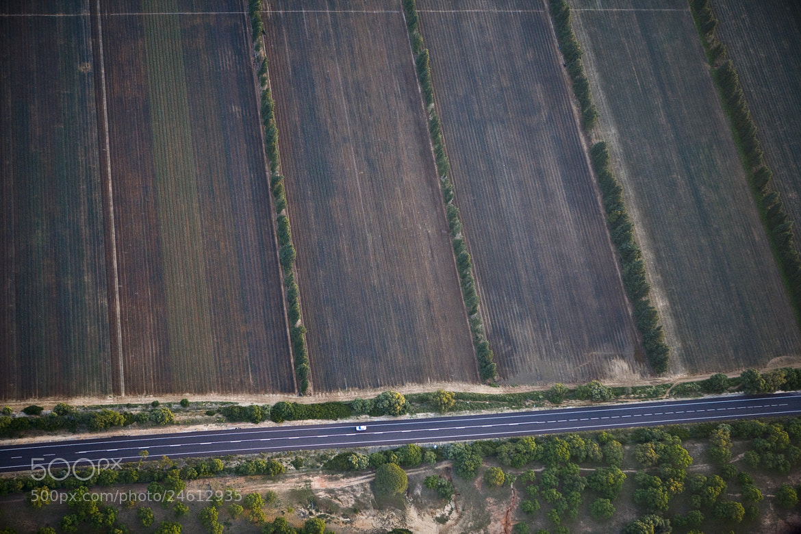 Photograph road and fields by Thierry Delsart on 500px