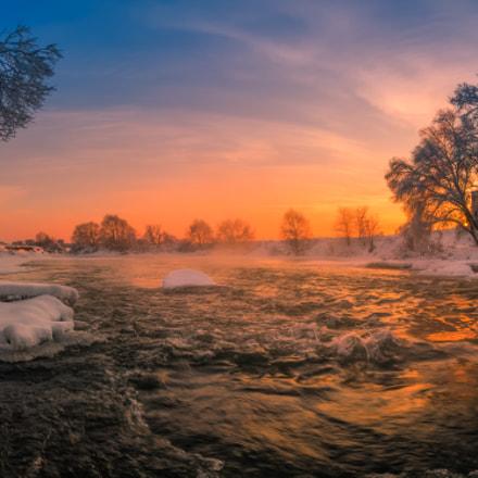 Рассвет на Юрятинской мельнице
