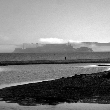 Alcatraz from ria at, Canon POWERSHOT SD870 IS