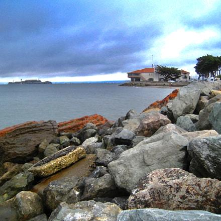Alcatraz from Yacht Club, Canon POWERSHOT SD870 IS