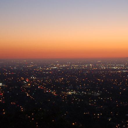 Evening orange sky, Nikon D50, AF-S DX Zoom-Nikkor 18-55mm f/3.5-5.6G ED