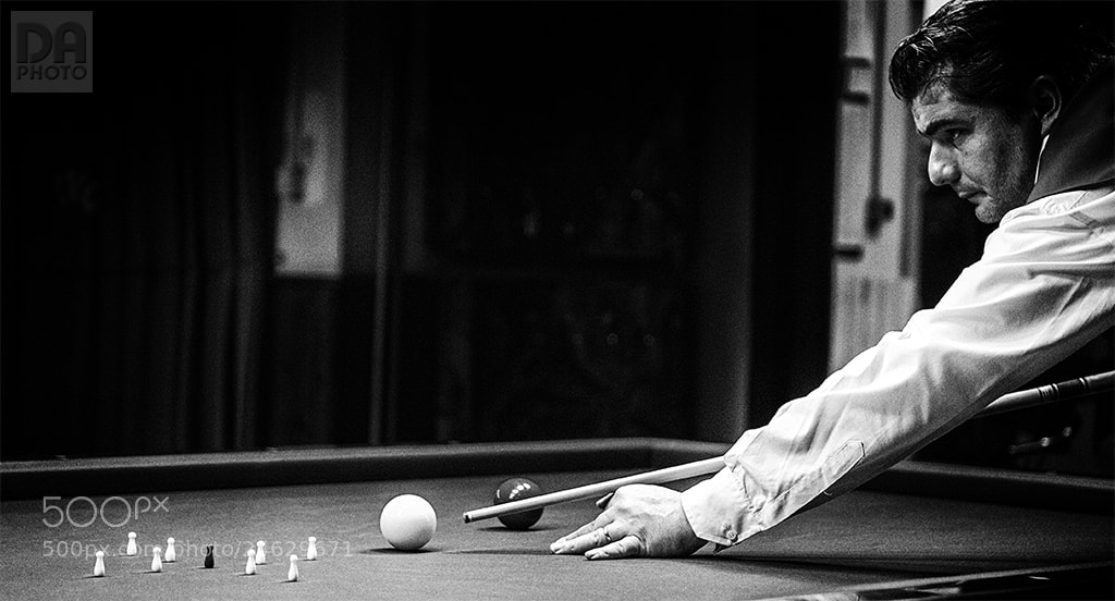 Photograph Billiards player by Dario Andreoni on 500px