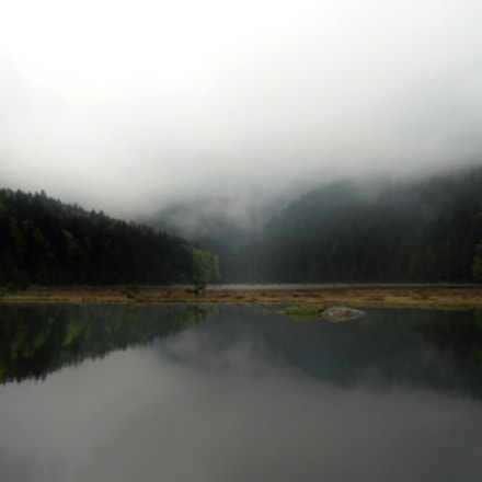 Bayrischer Wald Spiegelung am, Sony DSC-H55