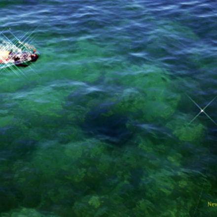 Person snorkeling and following, Panasonic DMC-TZ110