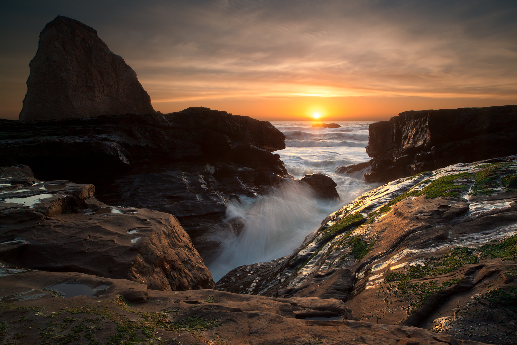 Photograph Sunset at Hole in the Wall Beach by Joe Ganster on 500px