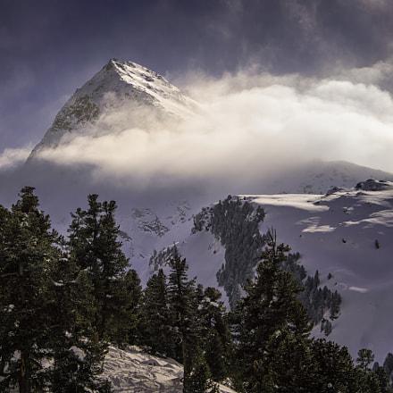 Eiskögele peak in clouds