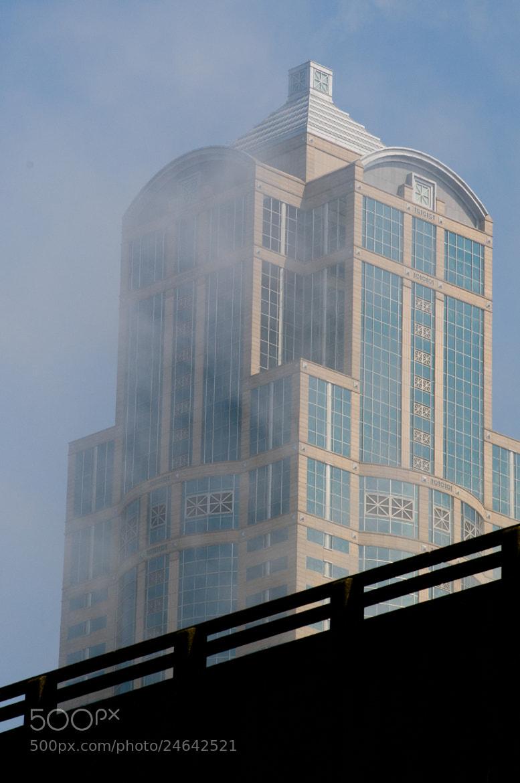Photograph Fog Clears Seattle Building by Glenn  McGloughlin on 500px