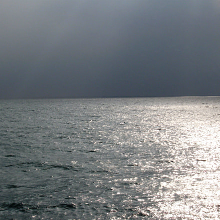 Sea with Silver Lines, Canon POWERSHOT A580