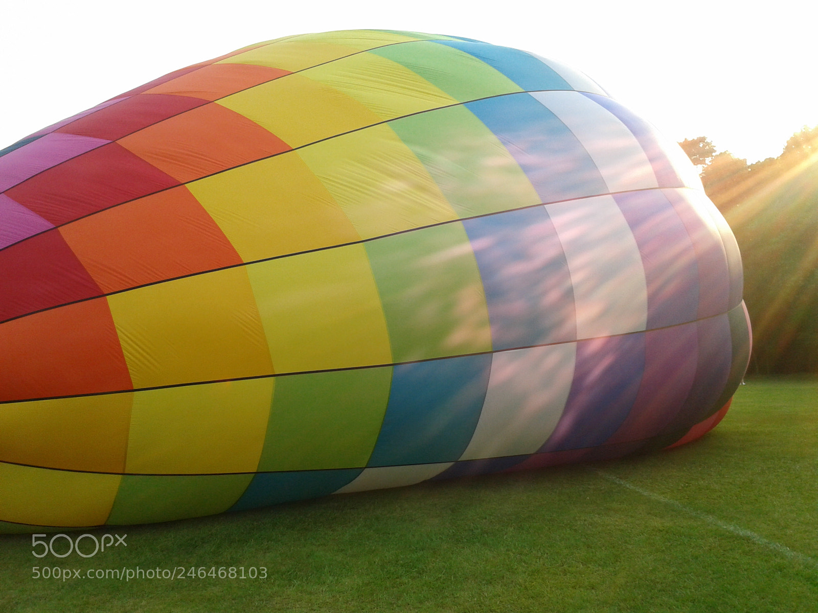 Hot air balloon in