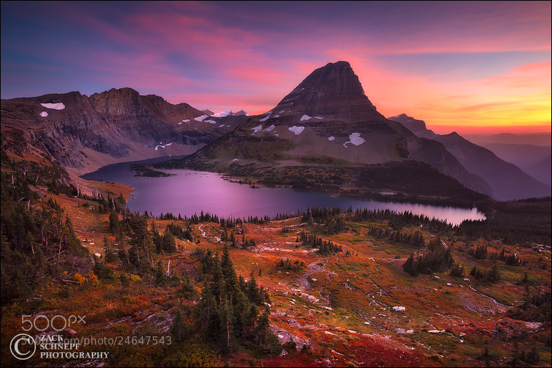 Photograph Autumn Glacier Sunset by Zack Schnepf on 500px