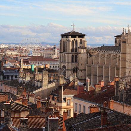Lyon cityscape from Fourvi, Canon EOS 600D, Canon EF 50mm f/1.8 II