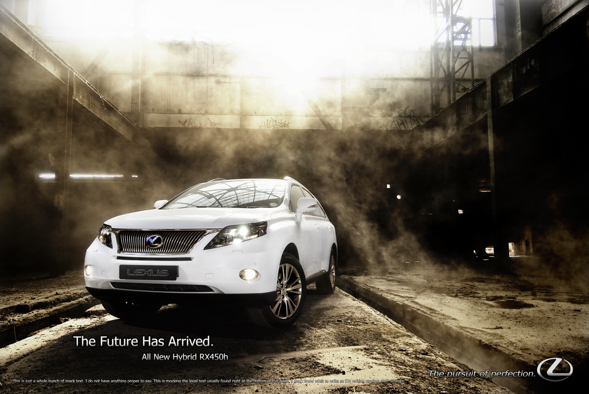 Photograph Lexus RX450h Advert Mockup by Oliver H on 500px