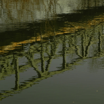 Railway Bridge Reflection, Nikon COOLPIX P100
