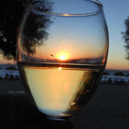 Sunset in the glass, Nikon COOLPIX S6100