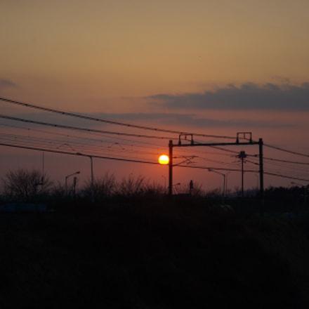 sunset and railroad, Samsung GX10
