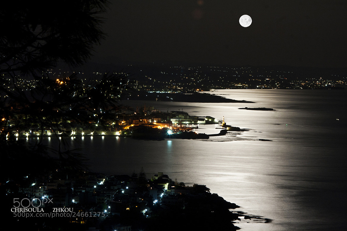 Photograph chania moonlight by Chriss Zikou on 500px