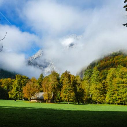 Watzmann (behind the clouds), Panasonic DMC-FT4
