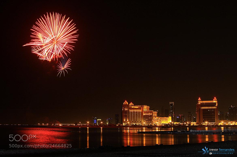Photograph Fireworks @ katara... by Trevor Fernandes on 500px