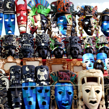 Masks, Canon EOS DIGITAL REBEL XS, Canon EF-S 18-55mm f/3.5-5.6 IS