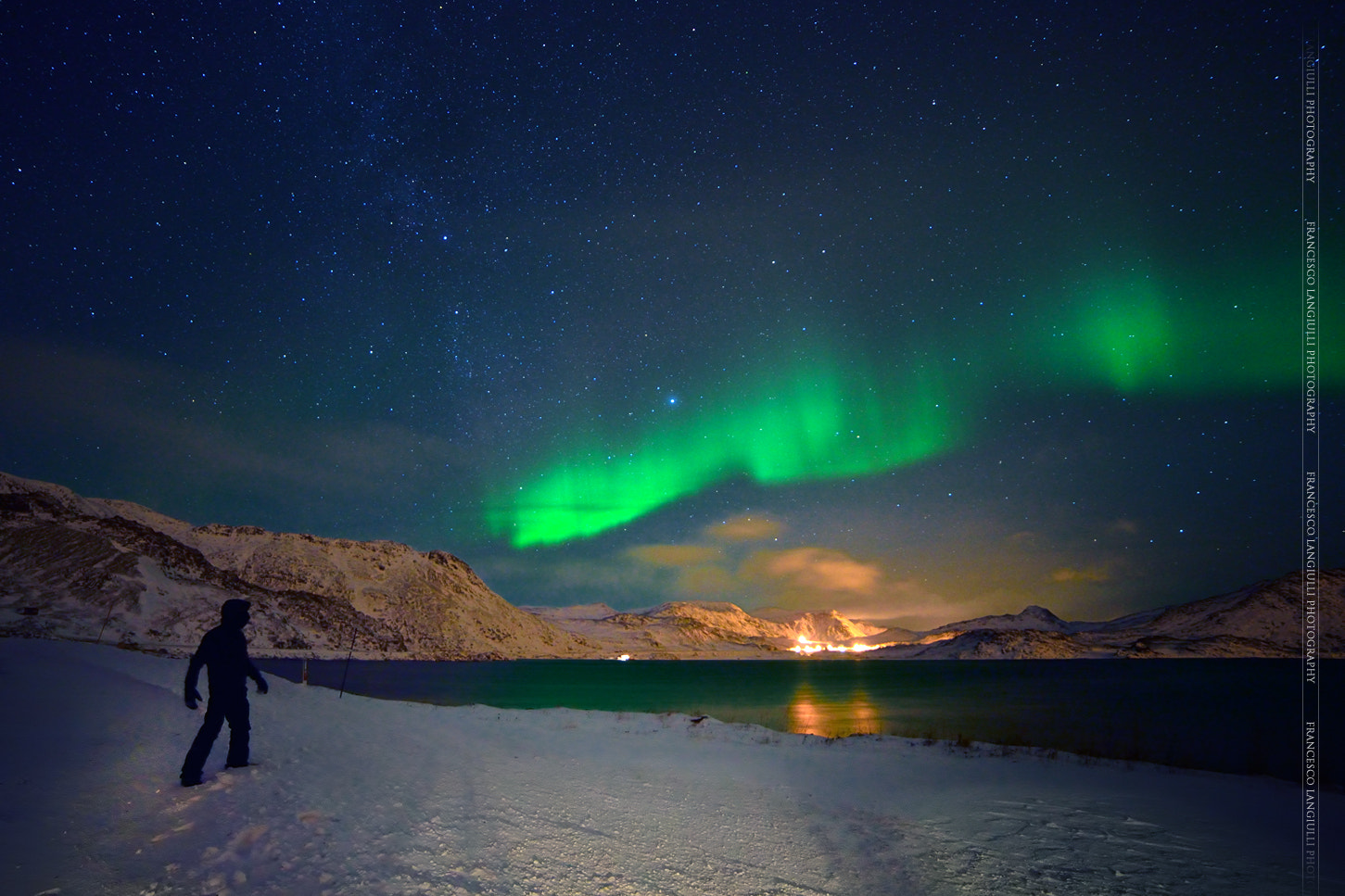 Photograph Self-timer with aurora by Francesco Langiulli on 500px