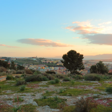 Sunset in Cagliari, Canon EOS 100D, Canon EF-S 18-55mm f/3.5-5.6 IS STM