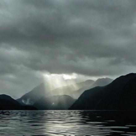 Sun breaks through clouds, Panasonic DMC-FT4
