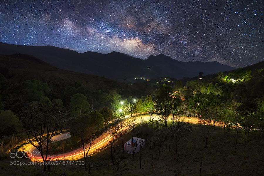 Doi Pha Tang with Milky Way Galaxy.