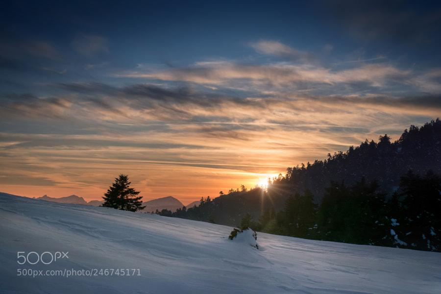 Sunset of winter..