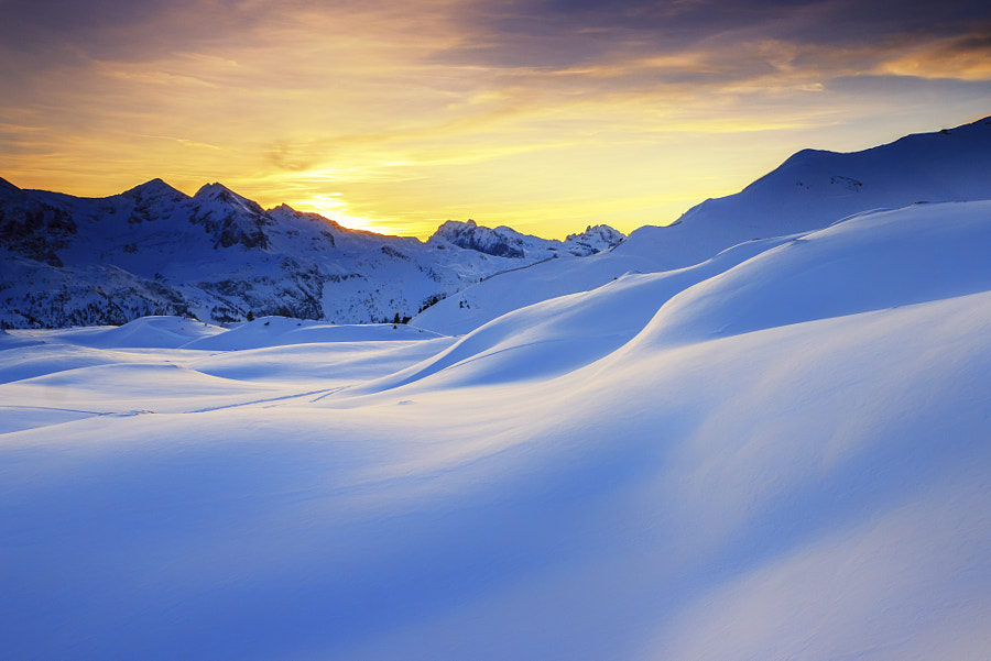 Sunset in the mountains in the Alps by Zoltan Duray on 500px.com