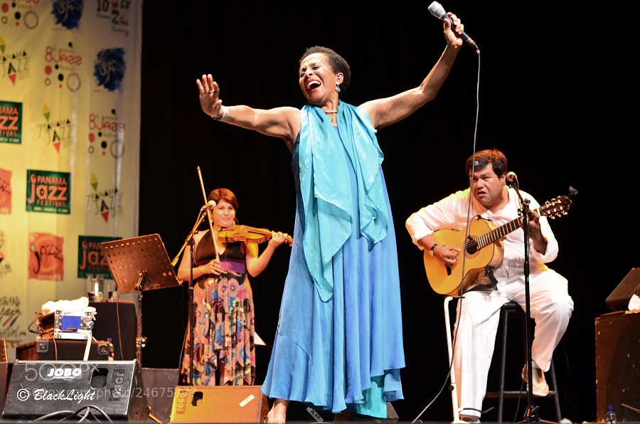 Susan Baca performing at the 10th annual Panama Jazz Festival