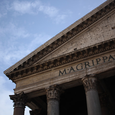 Il Pantheon, Canon EOS REBEL T5, Canon EF-S 24mm f/2.8 STM