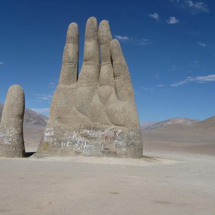 Mano en el desierto, Canon POWERSHOT A720 IS