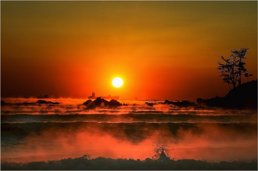 Winter Sea at Sunrise by Jeongki Kim on 500px.com
