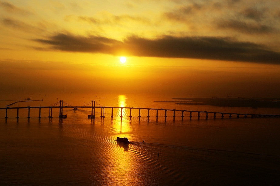 Photograph The sun over sea by Zhu xiao ping on 500px