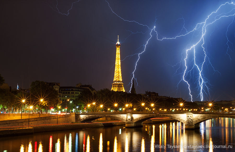 Photograph Lighting over Tour Eiffel by Vitaly Taysaev on 500px