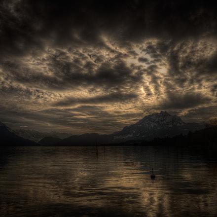 Evening Sky over Lake Lucerne