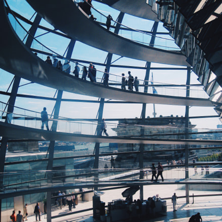 under the Reichstag dome, Canon DIGITAL IXUS 950 IS