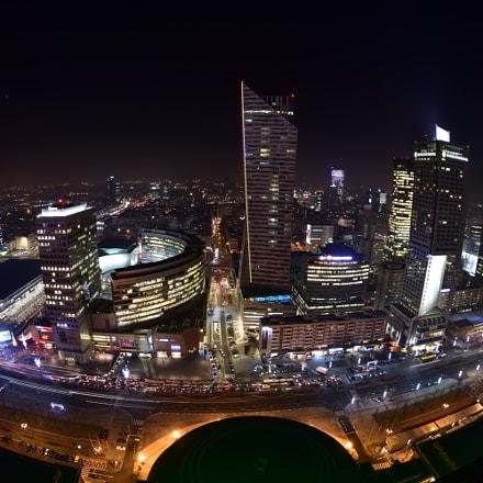 Warszawa nocą, Nikon D7200, AF DX Fisheye-Nikkor 10.5mm f/2.8G ED