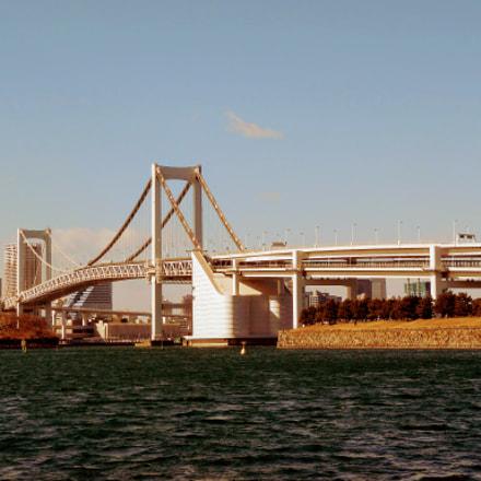 Rainbow Bridge, Minato-ku, Tokyo, Nikon COOLPIX S5300