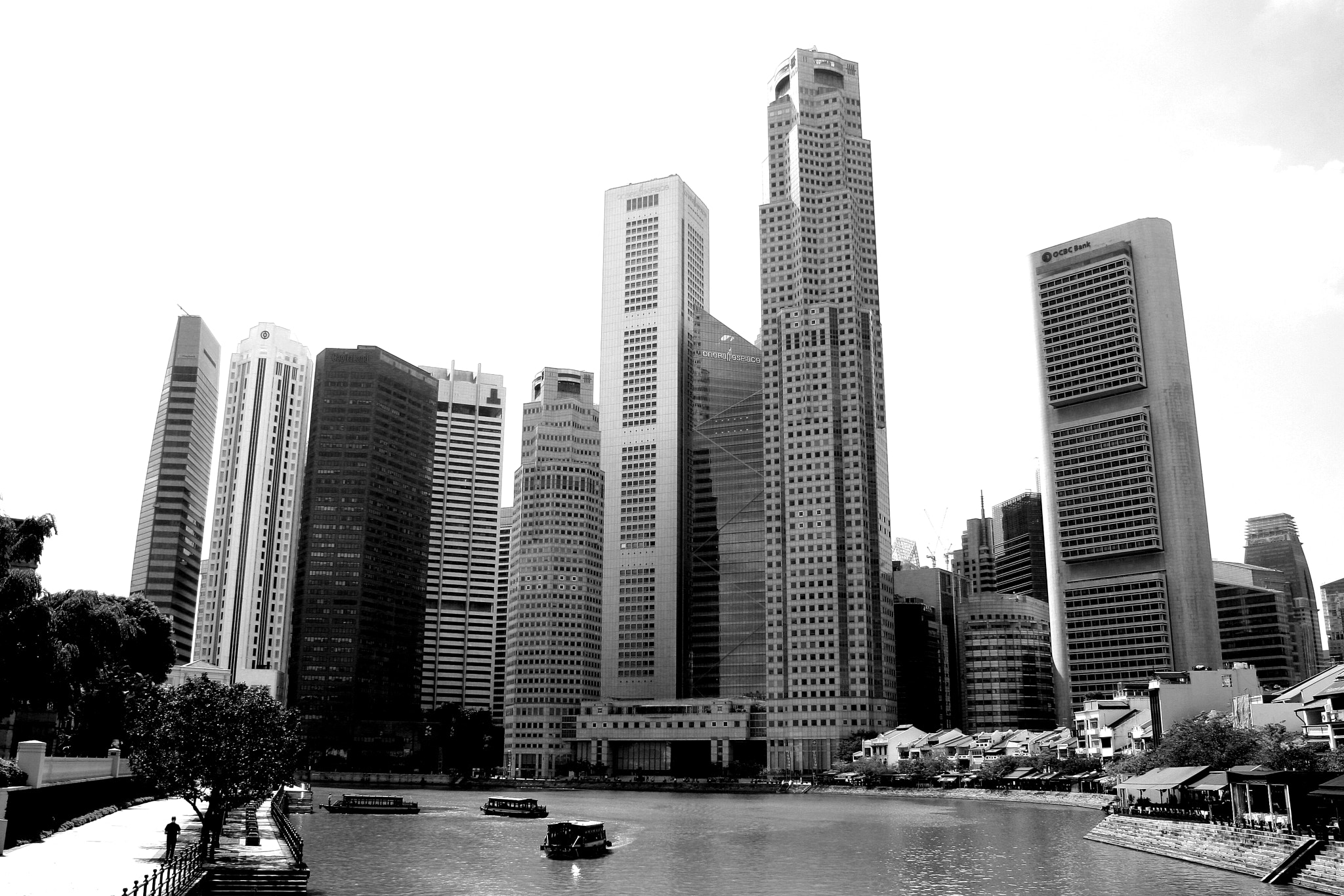 Photograph Cityscape Singapore in Black and White by Stamford Photography Singapore  ( William Teo). on 500px